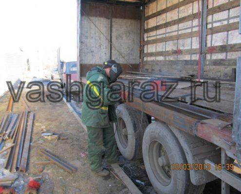 сварка рамы грузовика